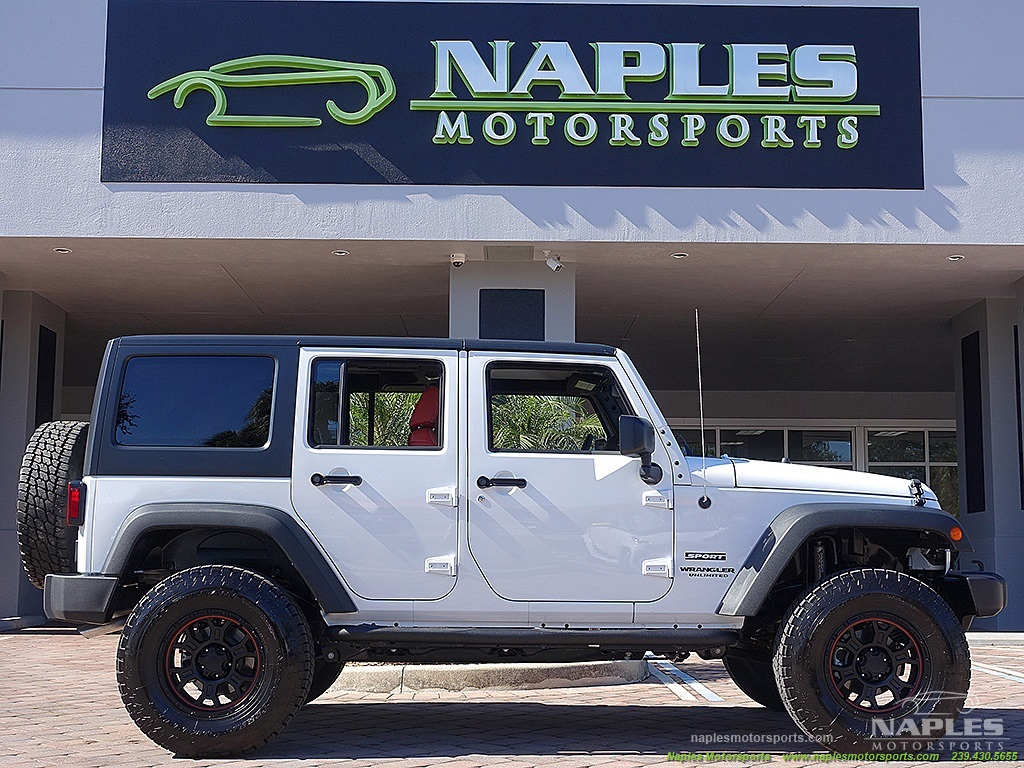 Used 2015 jeep wrangler unlimited sport for sale in naples for Florida department of motor vehicles naples fl