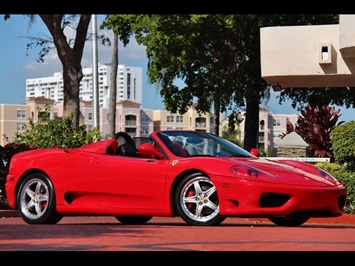 2004 Ferrari 360 Spider 6 Speed Manual Transmission Convertible