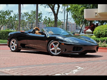 2001 Ferrari 360 Spider 6 Speed Manual Transmission Convertible