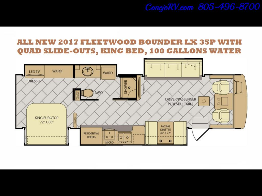 2017 Fleetwood Bounder LX 35P Quad Slide-Out Big Chassis King Bed - Photo 51 - Thousand Oaks, CA 91360