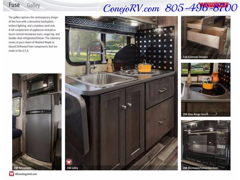 2017 Winnebago Fuse 23A Slide-Out Power Stroke Turbo Diesel - Photo 35 - Thousand Oaks, CA 91360