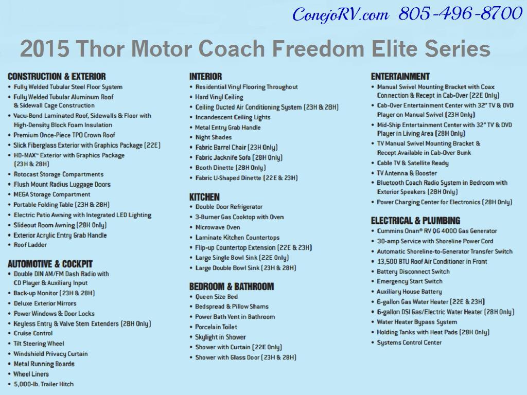 2015 Thor Freedom Elite 23H Class C 5k Miles - Photo 26 - Thousand Oaks, CA 91360