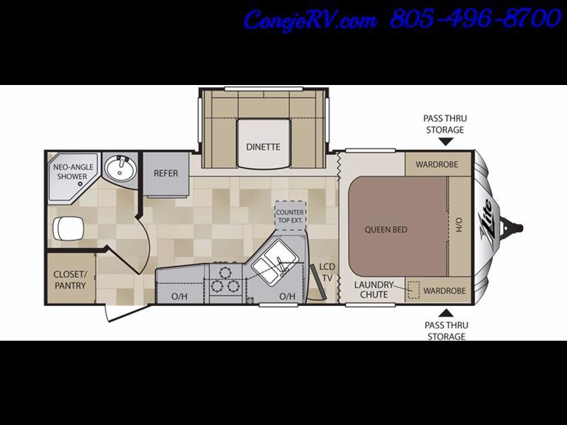 2014 Keystone Cougar 21RBS Slide Out Travel Trailer - Photo 33 - Thousand Oaks, CA 91360