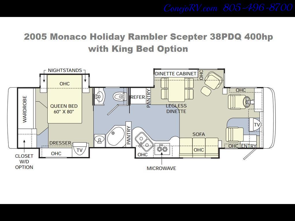 2005 Monaco Holiday Rambler Scepter 38PDQ 400hp 27k Miles - Photo 39 - Thousand Oaks, CA 91360