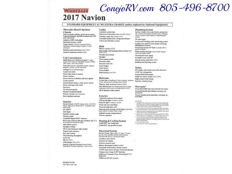2017 Winnebago Itasca Navion 24G 2-Slides Full Body Paint Diesel - Photo 38 - Thousand Oaks, CA 91360