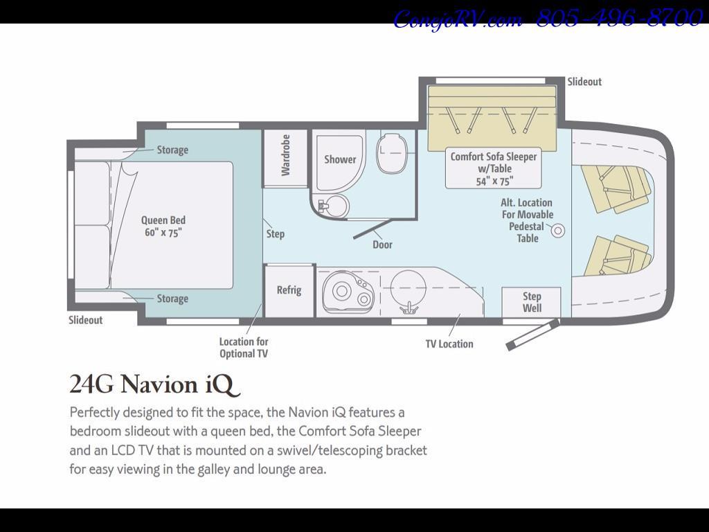 2012 Winnebago Itasca Navion 24G 2-Slide Full Paint  15k Miles - Photo 29 - Thousand Oaks, CA 91360