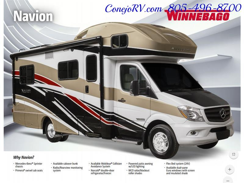 2017 Winnebago Itasca Navion 24J Slide-Out Full Body Paint Diesel - Photo 46 - Thousand Oaks, CA 91360