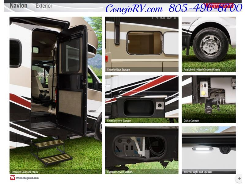 2017 Winnebago Itasca Navion 24J Slide-Out Full Body Paint Diesel - Photo 44 - Thousand Oaks, CA 91360