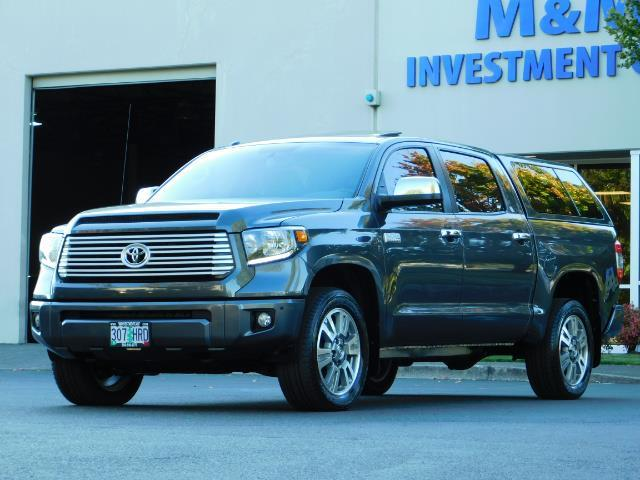 2015 Toyota Tundra PLATINUM / CrewMax / 4WD / FULLY LOADED / 1-OWNER - Photo 1 - Portland, OR 97217