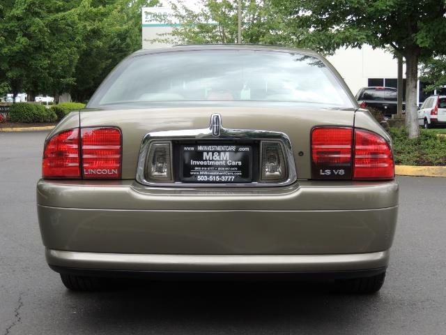 2002 Lincoln LS Luxury Sedan / Leather/ Heated Seats / Low Miles - Photo 6 - Portland, OR 97217