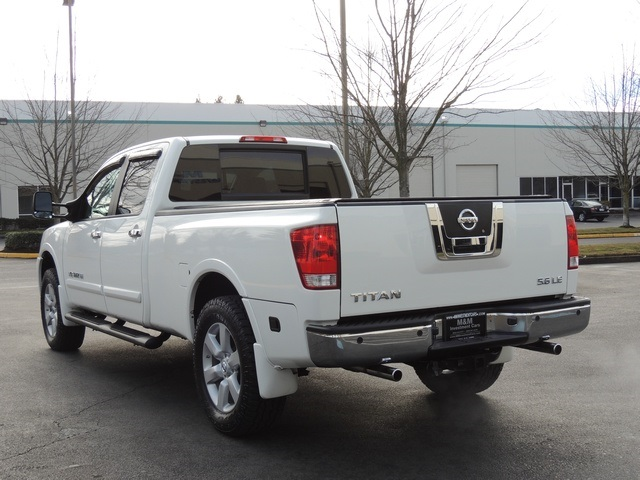 2008 nissan titan le 4x4 crew cab leather moonroof long bed 43k mile. Black Bedroom Furniture Sets. Home Design Ideas