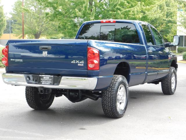 2007 Dodge Ram 2500 SLT BIG HORN EDITION / 4X4 / 5.9L DIESEL / 1-OWNER - Photo 7 - Portland, OR 97217