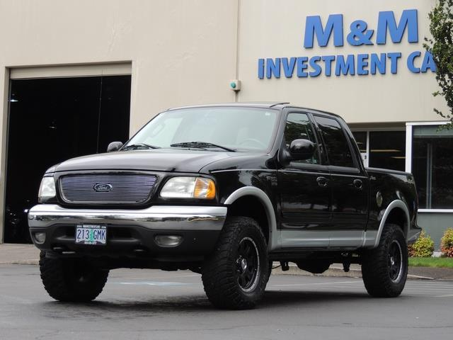 used 2003 ford f 150 lariat 4dr supercrew 4x4 leather sunroof for sale in portland or m. Black Bedroom Furniture Sets. Home Design Ideas