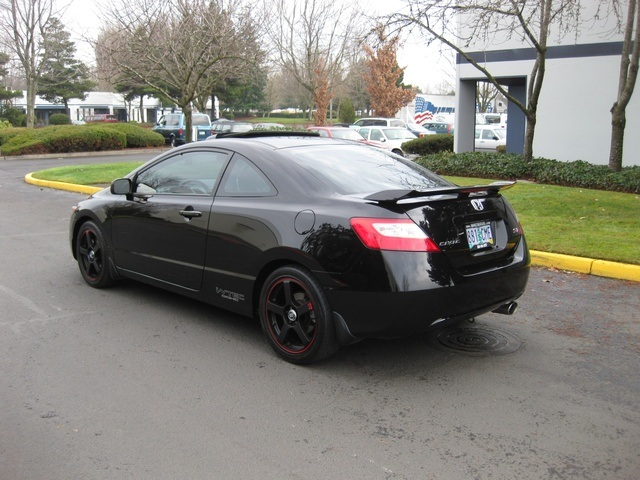 2006 honda civic si coupe 6 speed rear wing custom rims. Black Bedroom Furniture Sets. Home Design Ideas