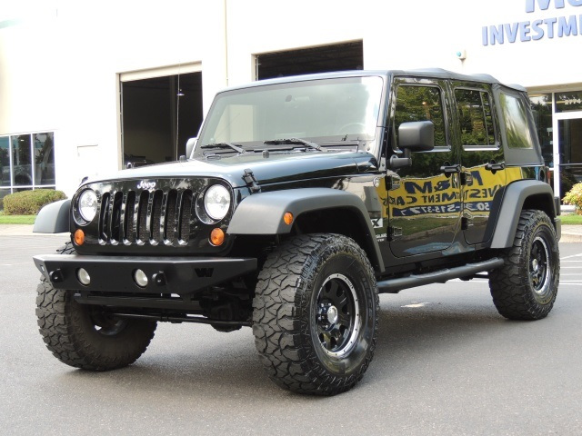 2007 jeep wrangler unlimited x 4x4 6 speed manual lifted. Black Bedroom Furniture Sets. Home Design Ideas