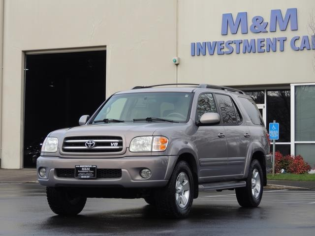 2002 toyota sequoia limited leather third seat 1 owner. Black Bedroom Furniture Sets. Home Design Ideas