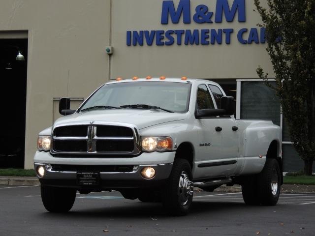 2005 dodge ram 3500 dually 4x4 59l cummins diesel longbed1 - White Dodge Truck 2005