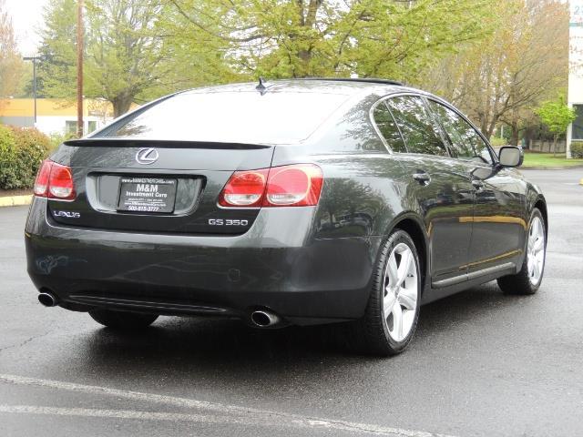 2007 Lexus GS 350 / Luxury Sport Sedan / Navigation / Back Up Ca - Photo 8 - Portland, OR 97217