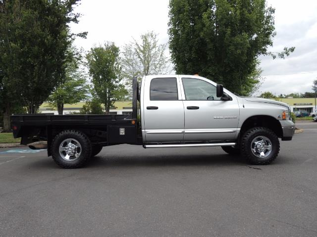 2004 Dodge Ram 3500 Laramie FLAT BED 4X4 / 5.9L Cummins DIESEL 6-SPEED - Photo 4 - Portland, OR 97217