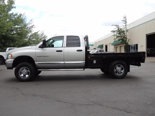 2004 Dodge Ram 3500 Laramie FLAT BED 4X4 / 5.9L Cummins DIESEL 6-SPEED - Photo 3 - Portland, OR 97217