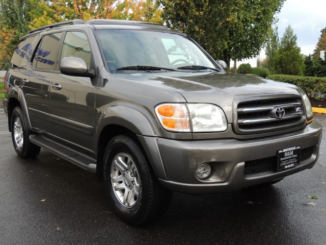 2003 toyota sequoia limited 3rd row seats leather heated. Black Bedroom Furniture Sets. Home Design Ideas