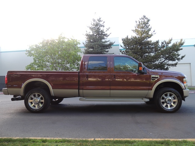2008 ford f 350 king ranch 4x4 crew cab long bed diesel. Black Bedroom Furniture Sets. Home Design Ideas