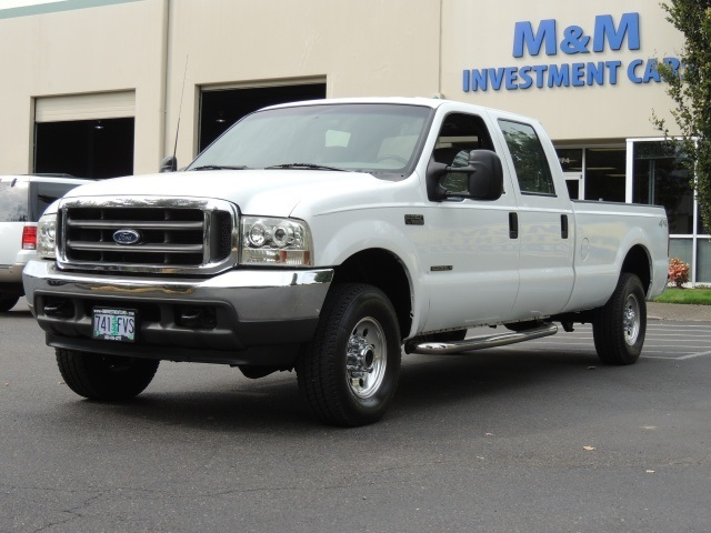 2001 ford f 250 xl crew cab 4x4 7 3l diesel long bed 98k miles. Black Bedroom Furniture Sets. Home Design Ideas