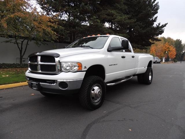 2005 dodge ram 3500 dually 4x4 59l cummins diesel navi lifted - White Dodge Truck 2005