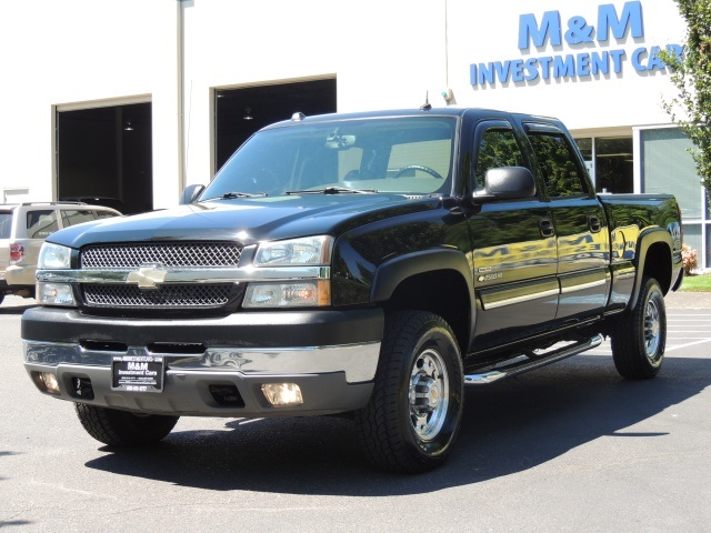 2004 chevrolet silverado 2500 ls crew cab 4x4 6 6l duramax diesel leather. Black Bedroom Furniture Sets. Home Design Ideas