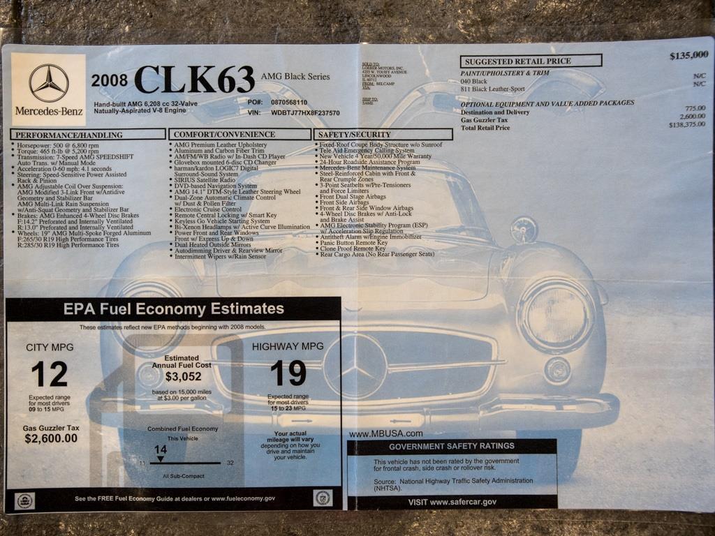 2008 Mercedes-Benz CLK CLK 63 AMG Black Series - Photo 37 - Springfield, MO 65802