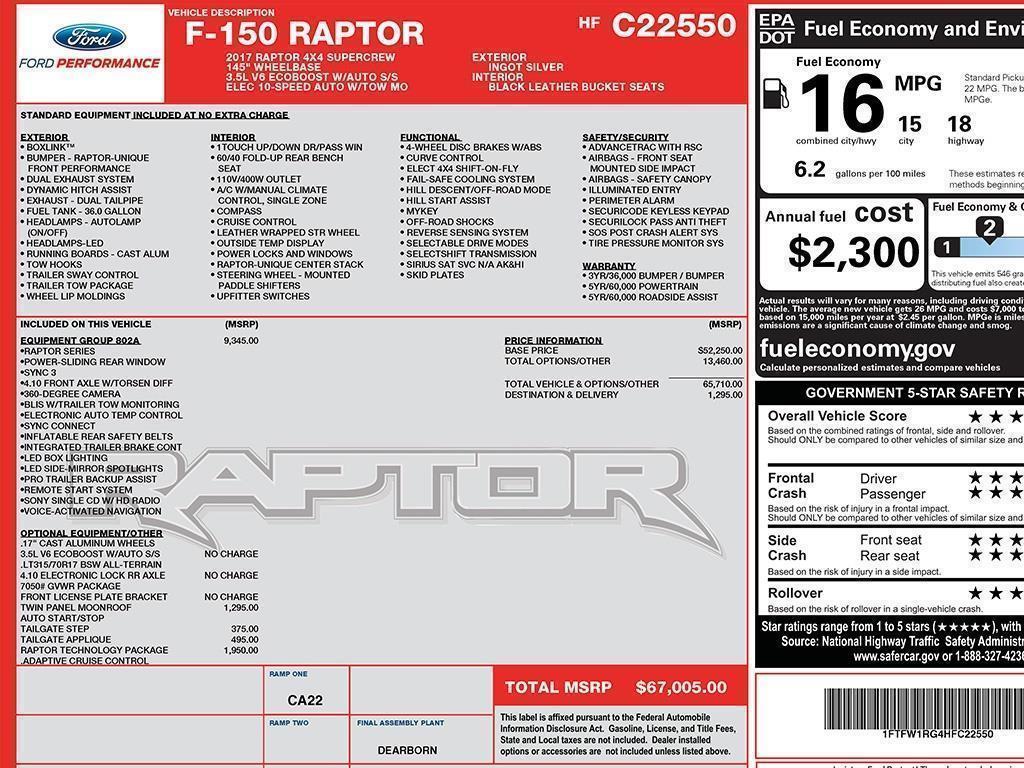 2017 Ford F-150 Raptor - Photo 20 - Springfield, MO 65802
