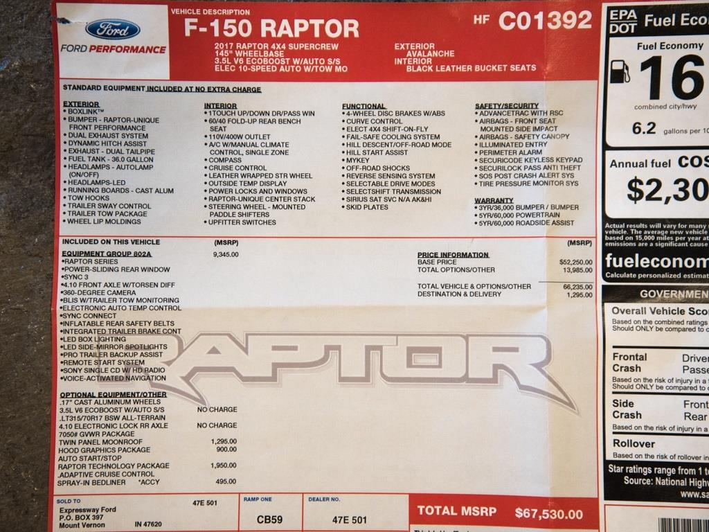2017 Ford F-150 Raptor - Photo 36 - Springfield, MO 65802