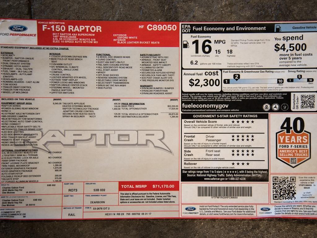 2017 Ford F-150 Raptor - Photo 29 - Springfield, MO 65802
