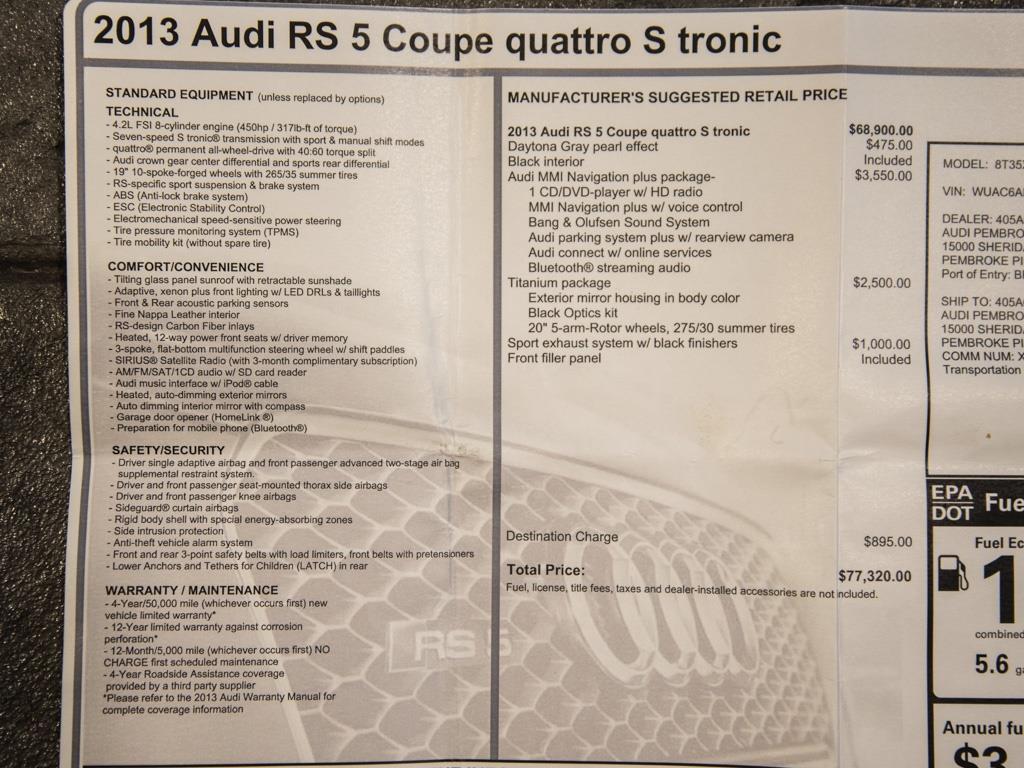 2013 Audi RS 5 quattro - Photo 34 - Springfield, MO 65802