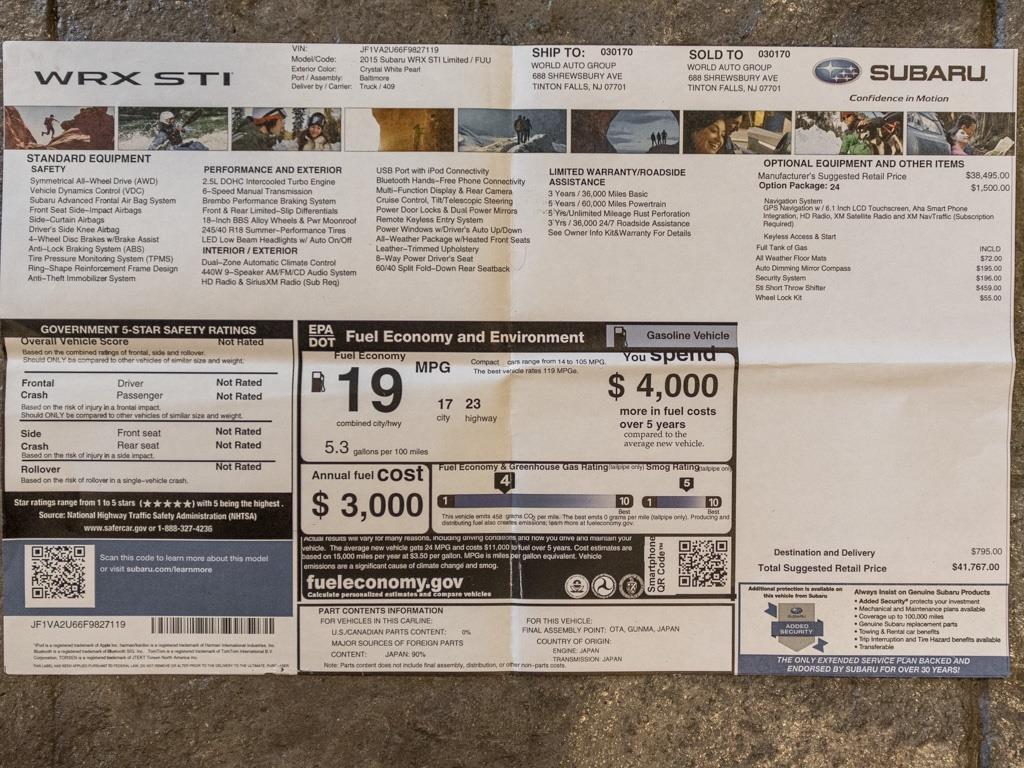 2015 Subaru WRX STI Limited - Photo 38 - Springfield, MO 65802