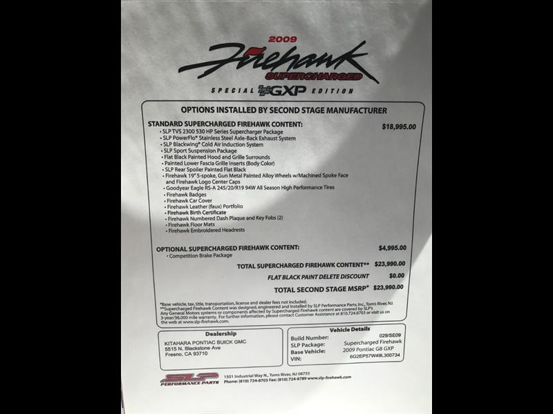 2009 Pontiac G8 GXP SLP Firehawk Transformer - Photo 42 - , TX 77041