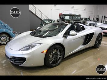 2014 McLaren MP4-12C Spider, Silver/Black w/ $333k MSRP! Convertible