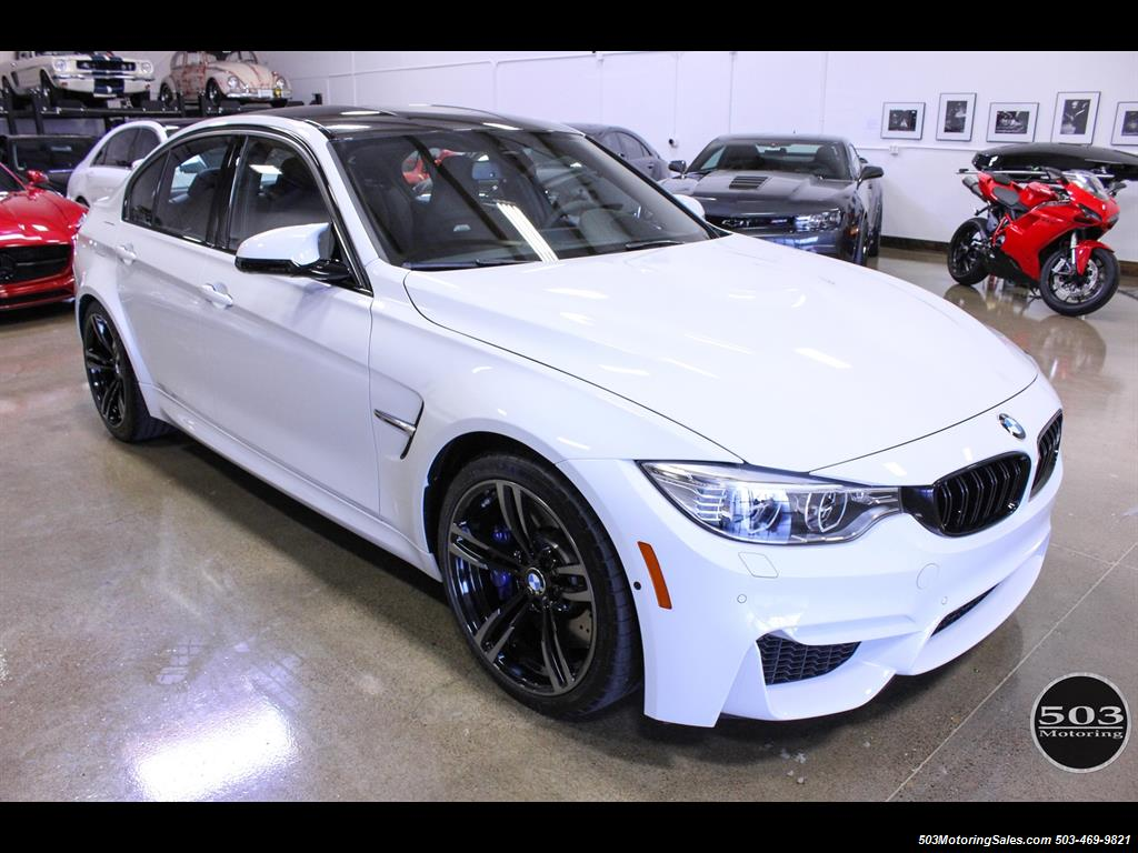 2016 bmw m3 like new in alpine white black w only 2 150 miles. Black Bedroom Furniture Sets. Home Design Ideas