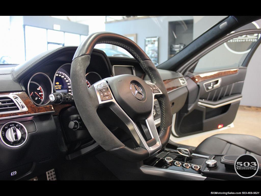 2014 Mercedes-Benz E 63 AMG S-Model Wagon; White/Black w/ 19k Miles! - Photo 25 - Beaverton, OR 97005