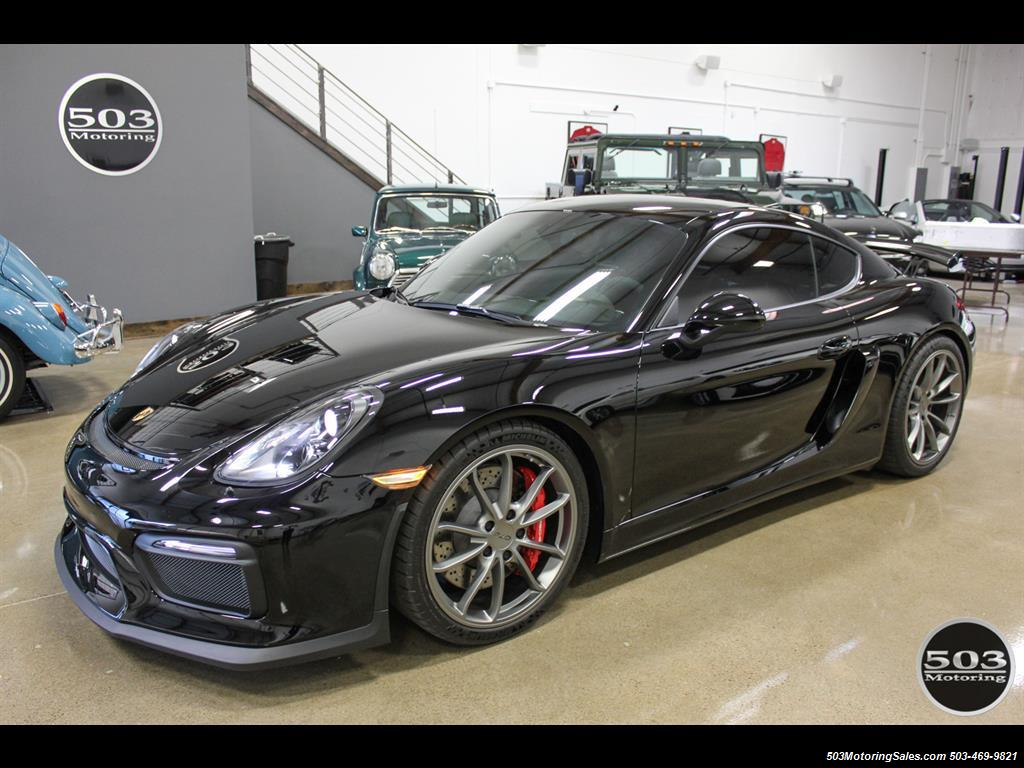 2016 Porsche Cayman GT4; Black w/ Full Buckets & Only 850 Miles! - Photo 1 - Beaverton, OR 97005