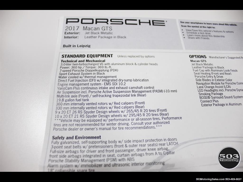 2017 Porsche Macan GTS; Black/Black w/ 2.5k Miles! - Photo 56 - Beaverton, OR 97005