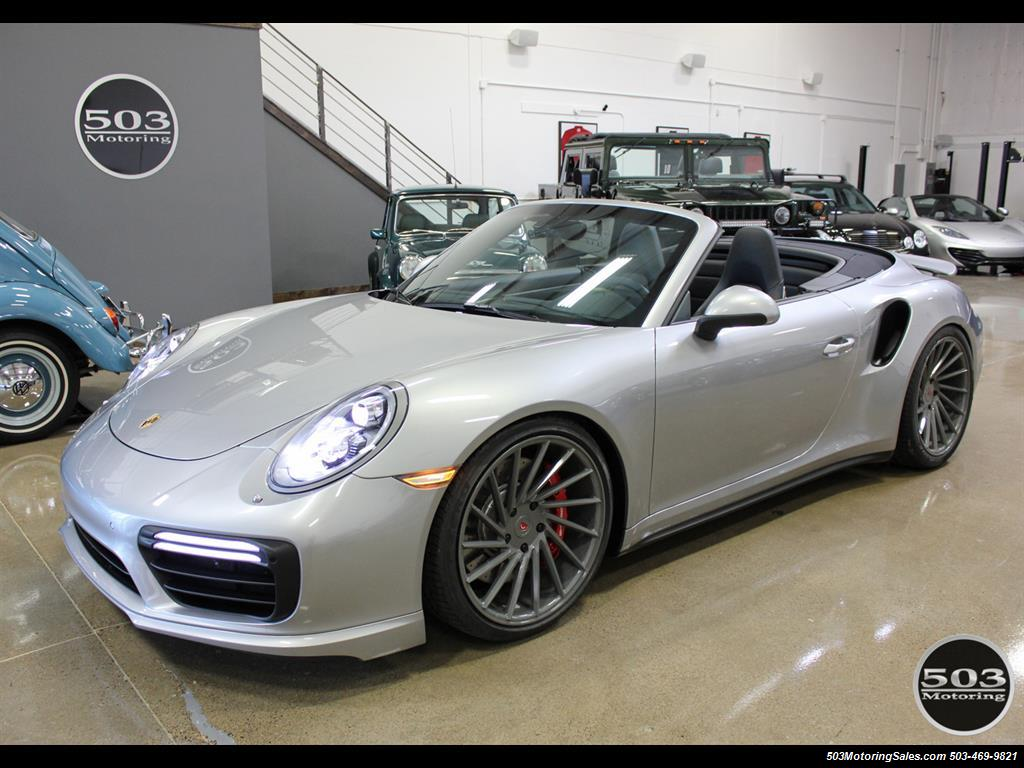 2017 Porsche 911 Turbo Cabriolet; GT Silver w/ 4k Miles! - Photo 1 - Beaverton, OR 97005