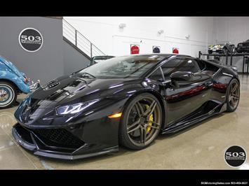 2015 Lamborghini Huracan LP 610-4; Black w/ Full XPEL & Vorsteiner Aero! Coupe