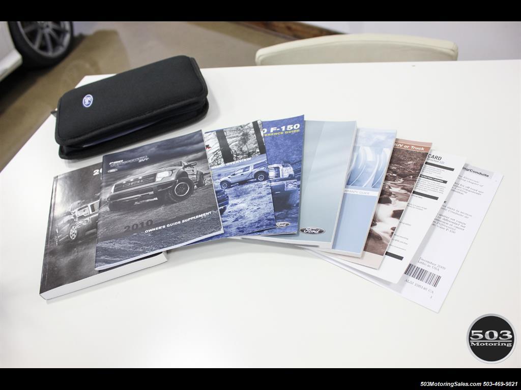 2010 Ford F-150 SVT Raptor; White/Black w/ Only 17k Miles! - Photo 56 - Beaverton, OR 97005
