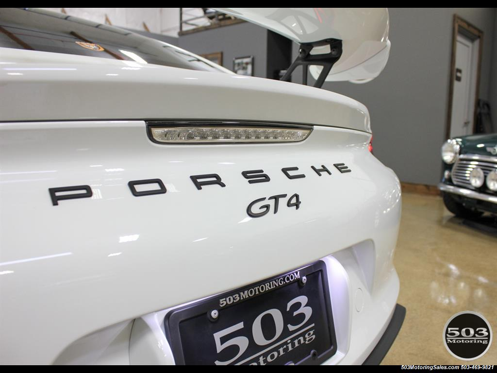 2016 Porsche Cayman GT4; White w/ Full Bucket Seats & 3k Miles! - Photo 29 - Beaverton, OR 97005